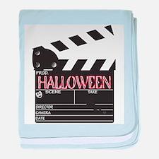 Halloween Clapper Board baby blanket