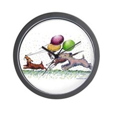 Dog Balloon Party Wall Clock