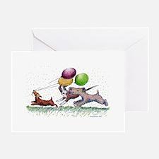 Dog Balloon Party Greeting Card