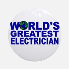 World's Greatest Electrician Ornament (Round)
