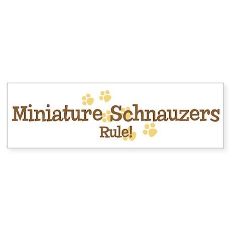 Miniature Schnauzers Rule Bumper Sticker
