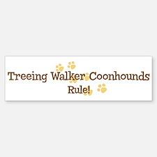 Treeing Walker Coonhounds Rul Bumper Bumper Bumper Sticker