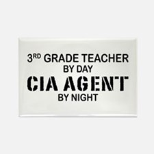 3rd Grade Teacher CIA Rectangle Magnet