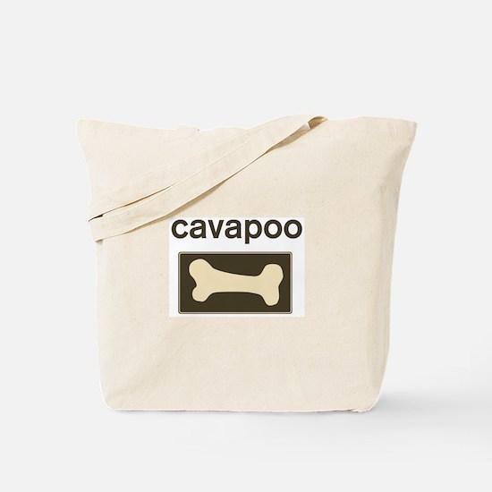 Cavapoo Dog Bone Tote Bag