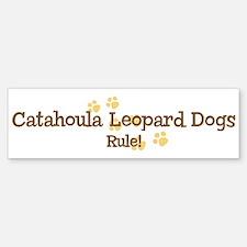 Catahoula Leopard Dogs Rule Bumper Bumper Bumper Sticker