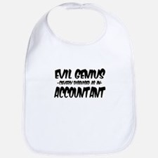 Evil Genius cleverly disguised as an Accountan Bib