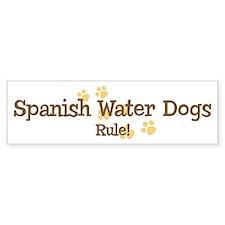 Spanish Water Dogs Rule Bumper Bumper Sticker