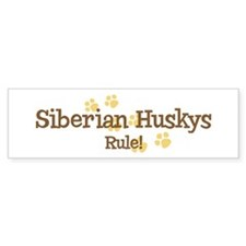 Siberian Huskys Rule Bumper Bumper Sticker