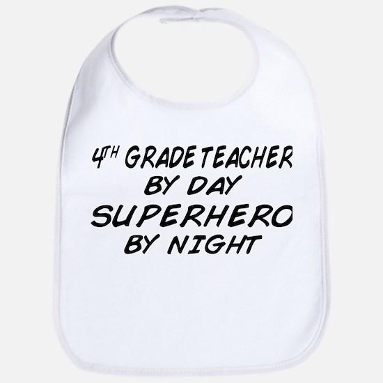4th Grade Teacher Superhero Bib
