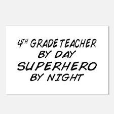4th Grade Teacher Superhero Postcards (Package of
