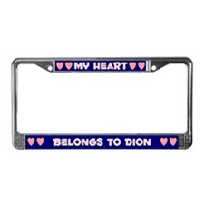 My Heart: Dion (#008) License Plate Frame