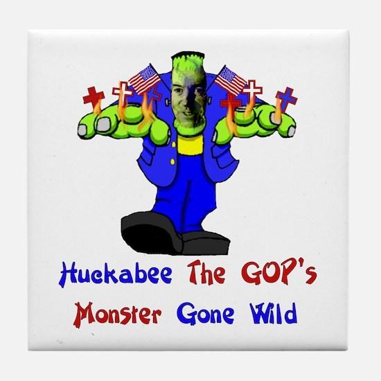 Huckabee GOP Monster Tile Coaster
