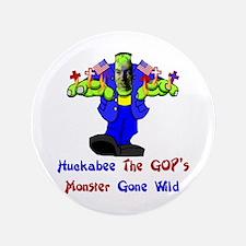 """Huckabee GOP Monster 3.5"""" Button"""