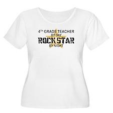 4th Grade Teacher Rock Star T-Shirt
