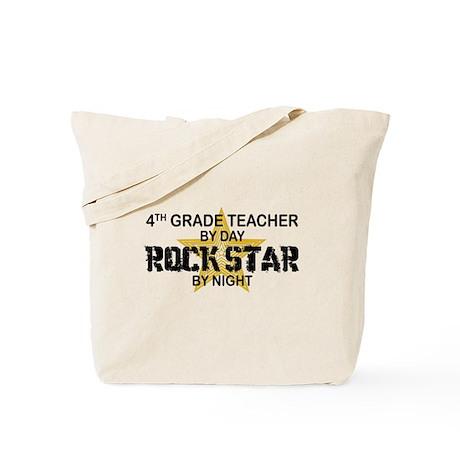 4th Grade Teacher Rock Star Tote Bag