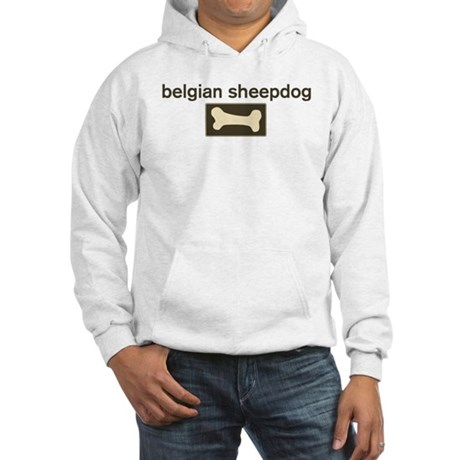 Belgian Sheepdog Dog Bone Hooded Sweatshirt