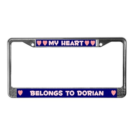 My Heart: Dorian (#008) License Plate Frame