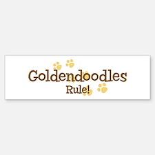 Goldendoodles Rule Bumper Bumper Bumper Sticker
