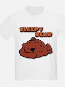 """Sleepy Bear"" Kids T-Shirt"