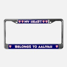My Heart: Aaliyah (#008) License Plate Frame