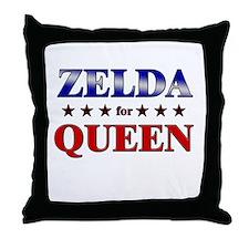 ZELDA for queen Throw Pillow