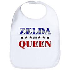 ZELDA for queen Bib