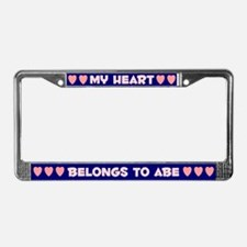 My Heart: Abe (#008) License Plate Frame