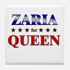 ZARIA for queen Tile Coaster