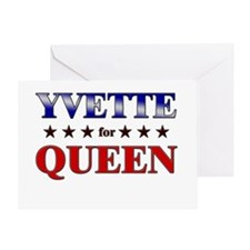 YVETTE for queen Greeting Card