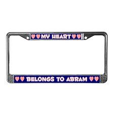My Heart: Abram (#008) License Plate Frame
