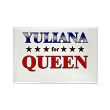 YULIANA for queen Rectangle Magnet