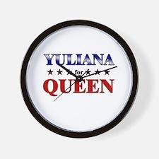 YULIANA for queen Wall Clock