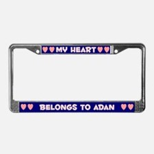 My Heart: Adan (#008) License Plate Frame
