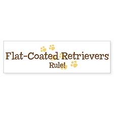 Flat-Coated Retrievers Rule Bumper Bumper Sticker
