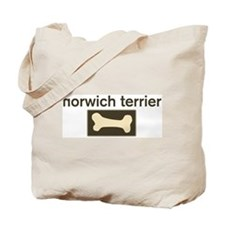 Norwich Terrier Dog Bone Tote Bag