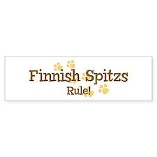 Finnish Spitzs Rule Bumper Bumper Bumper Sticker