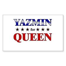 YAZMIN for queen Rectangle Decal