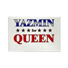 YAZMIN for queen Rectangle Magnet