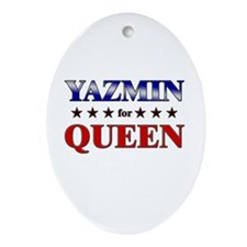 YAZMIN for queen Oval Ornament