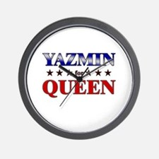 YAZMIN for queen Wall Clock