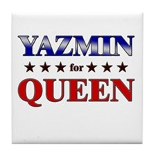 YAZMIN for queen Tile Coaster