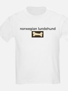 Norwegian Lundehund Dog Bone T-Shirt