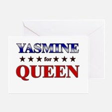 YASMINE for queen Greeting Card