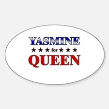YASMINE for queen Oval Decal