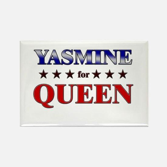 YASMINE for queen Rectangle Magnet