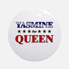 YASMINE for queen Ornament (Round)