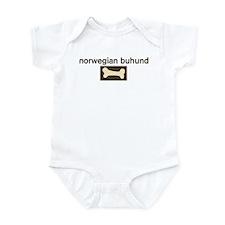 Norwegian Buhund Dog Bone Infant Bodysuit