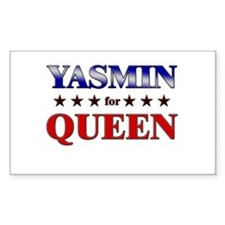 YASMIN for queen Rectangle Decal