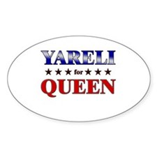 YARELI for queen Oval Decal