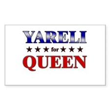 YARELI for queen Rectangle Decal